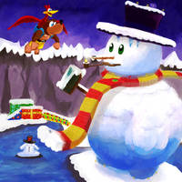 The giant snowman by nehii