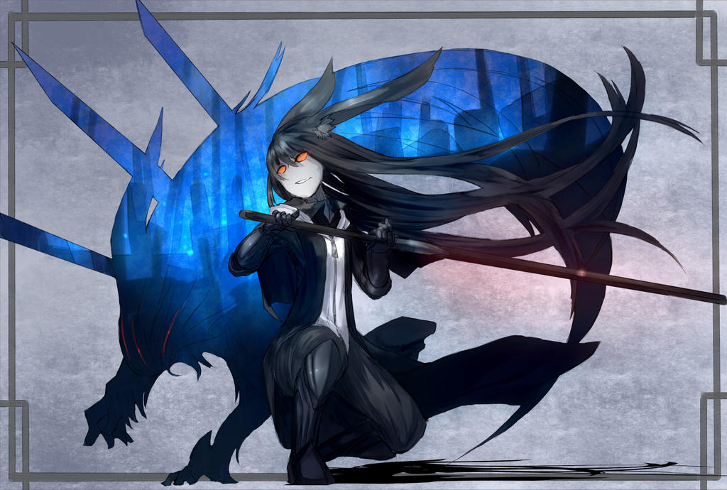 Anime Wallpaper Konachan Anime Shadow Wolf Wallpaper