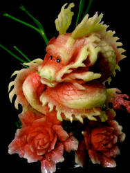 Fruit Carving Dragon