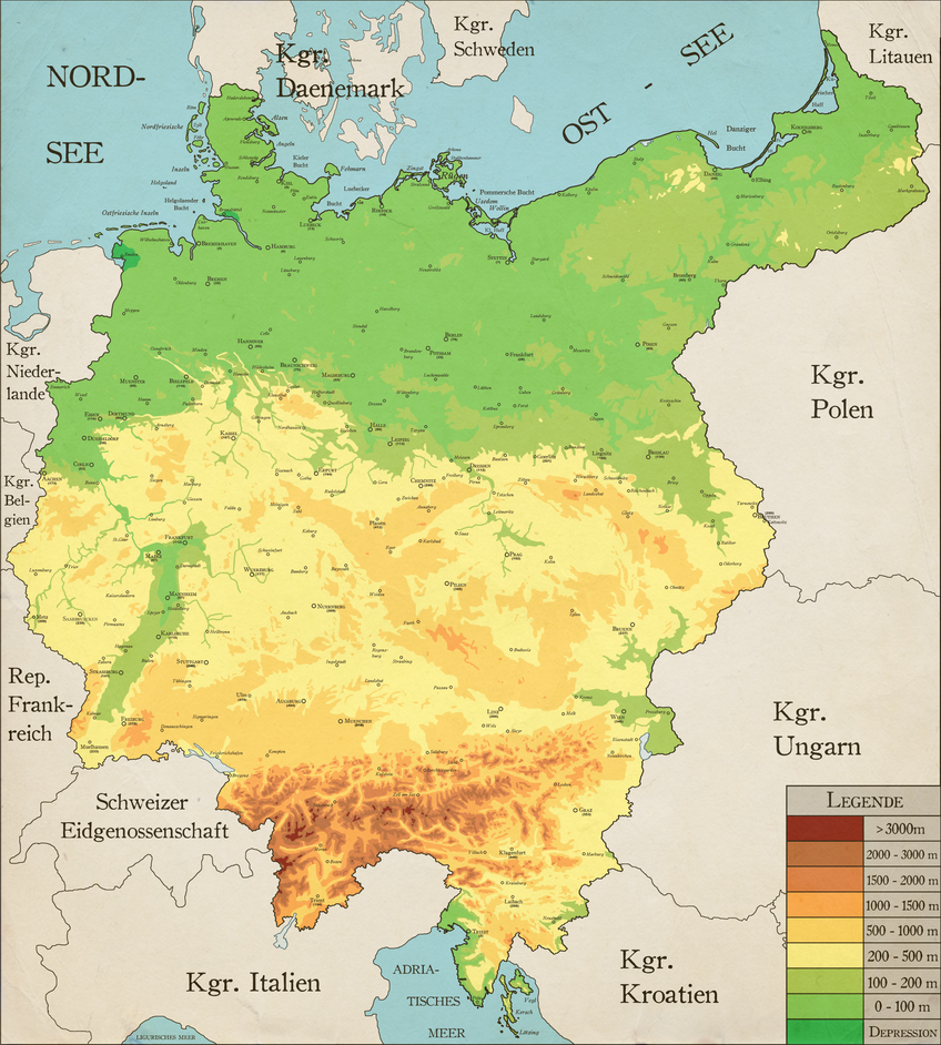 Germany Map Of Cities.Greater Germany Topgrahical Map Cities By Robeatnix On Deviantart