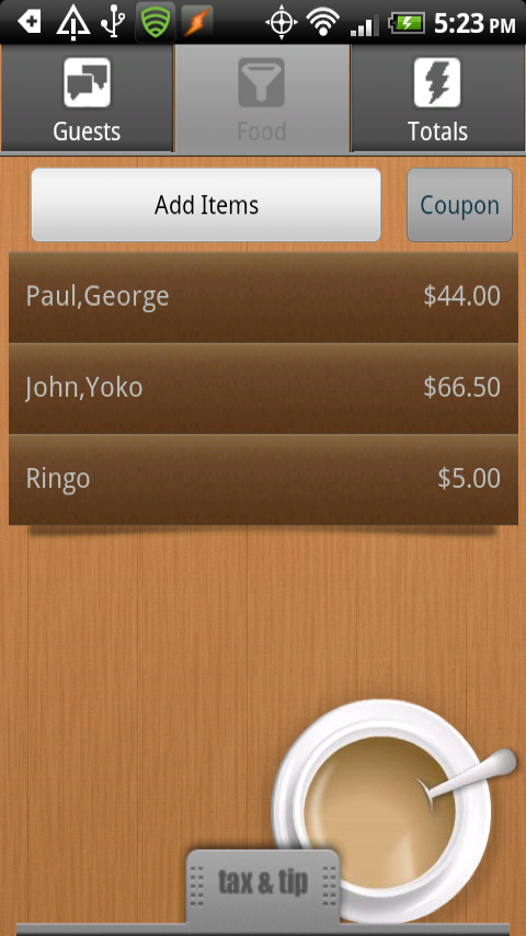 SplitAndTip for Android by cyansmoker