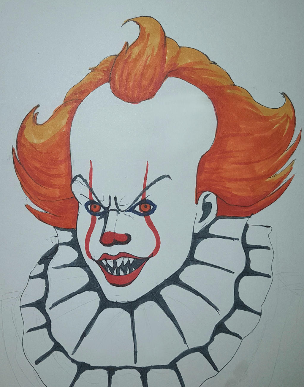 How To Draw Pennywise Easy ~ Drawing Tutorial Easy
