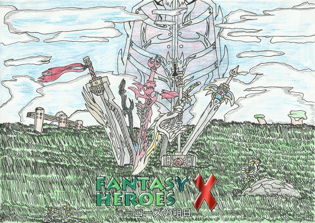 FANTASY HEROS X TITLE SCREEN by SHADOWLOUIX