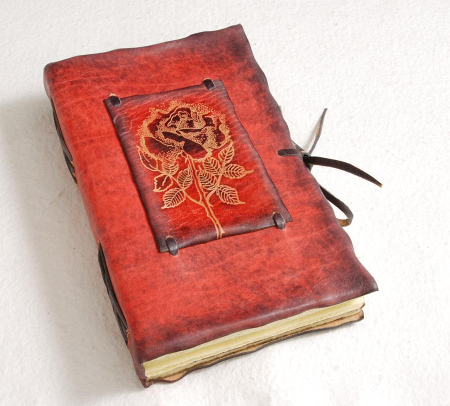 Beautiful Rose Leather Journal By Gildbookbinders On