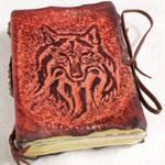 Beautiful Wolf Leather Journal