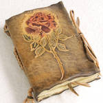 Small Rose Leather Journal