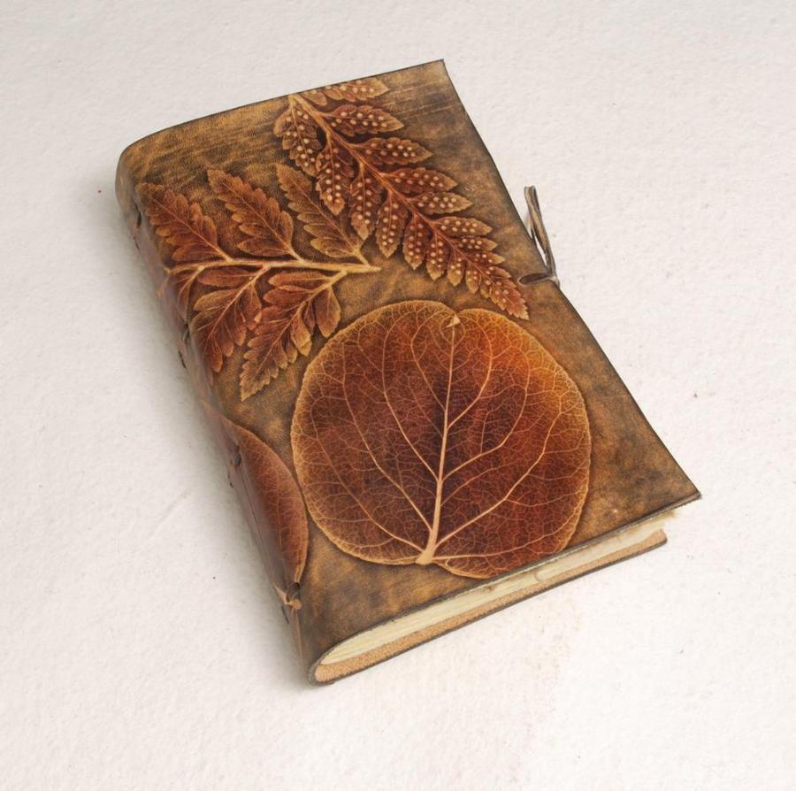 One-of-a-kind Leaves Journal by gildbookbinders