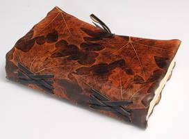 OOAK Maple Leather Journal by gildbookbinders