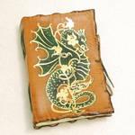 GOLDEN DRAGON, leather journal