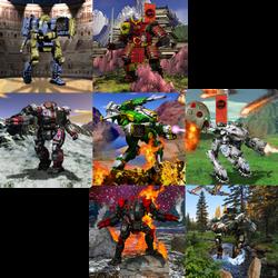 7 panels of BattleTech by hrlfg