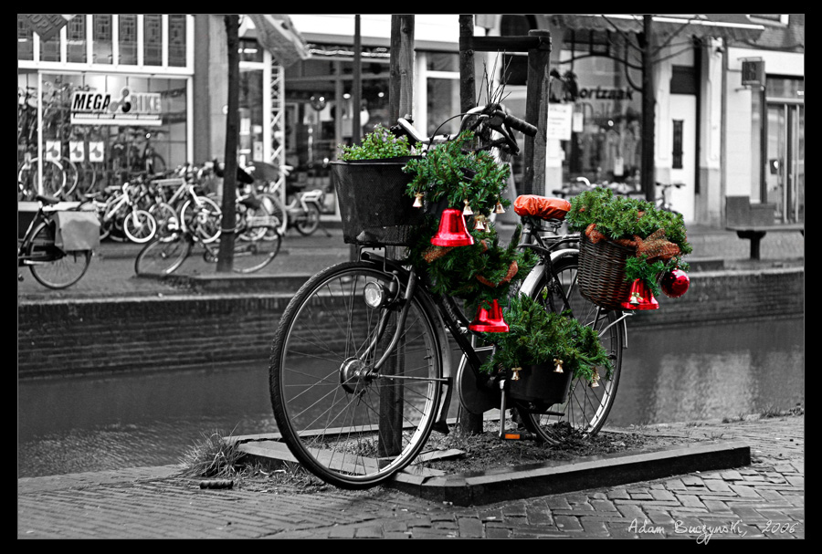 Christmas Bicycle by Ildefonse