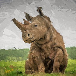 Savanna Rhinoceros by realdealluk