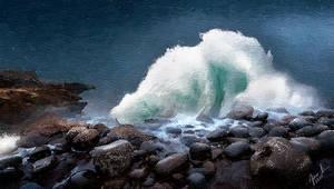 Crashing Wave Seascape
