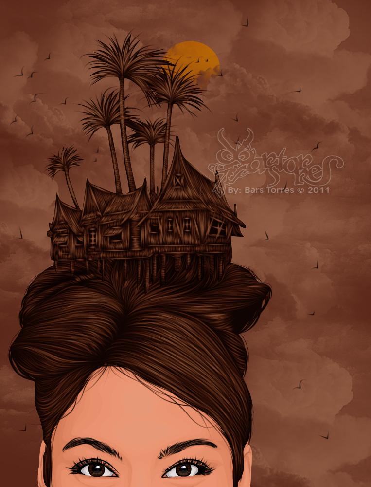 Nipa Hut Cartoon Nipa Hut Hair by Barstorres