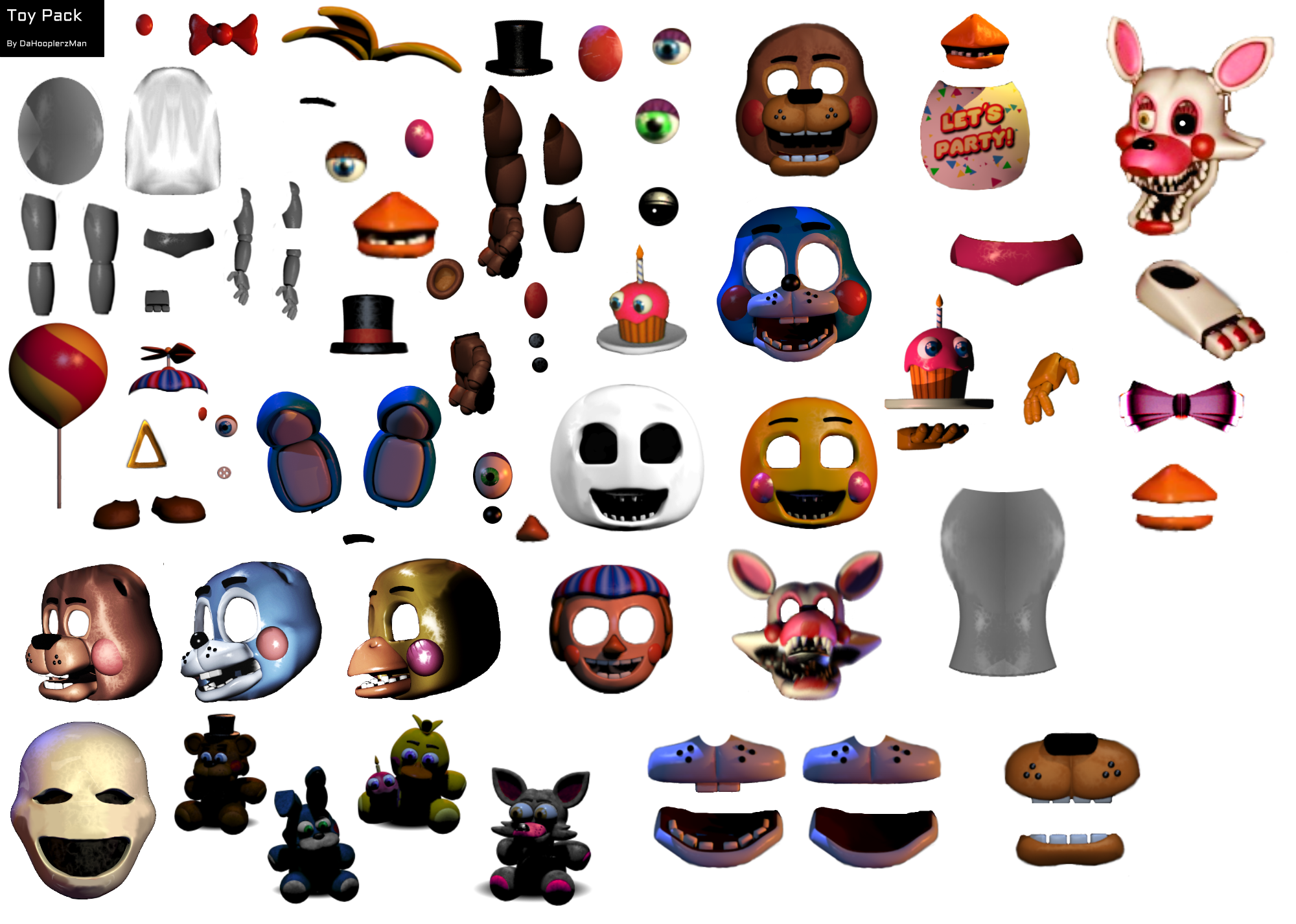 Fnaf toy animatronic resource pack by dahooplerzman on deviantart