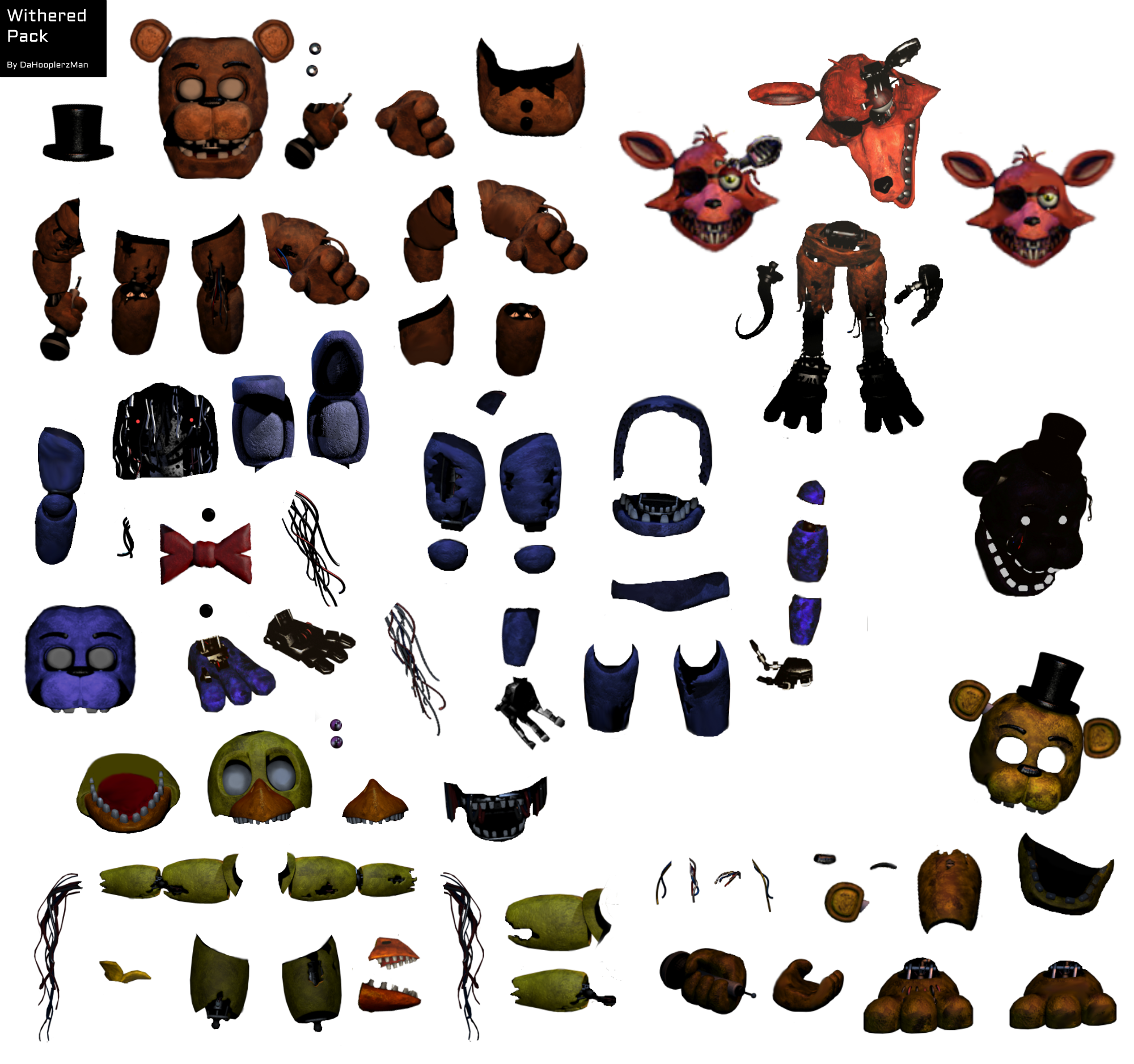 fnaf withered animatronic resource pack by dahooplerzman on deviantart