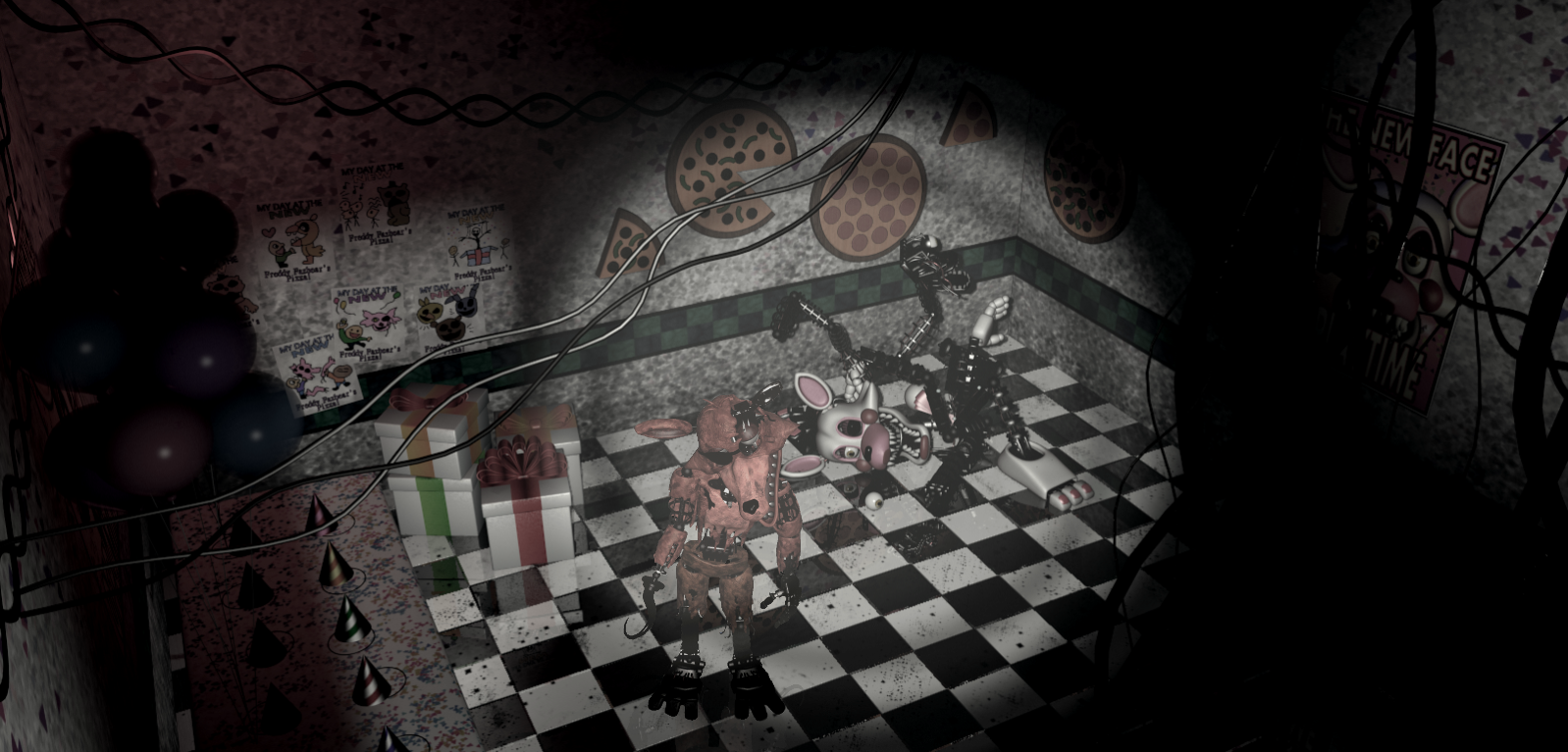 Withered foxy in kid s cove by dahooplerzman on deviantart