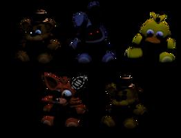 Withered Animatronic Plushies by DaHooplerzMan