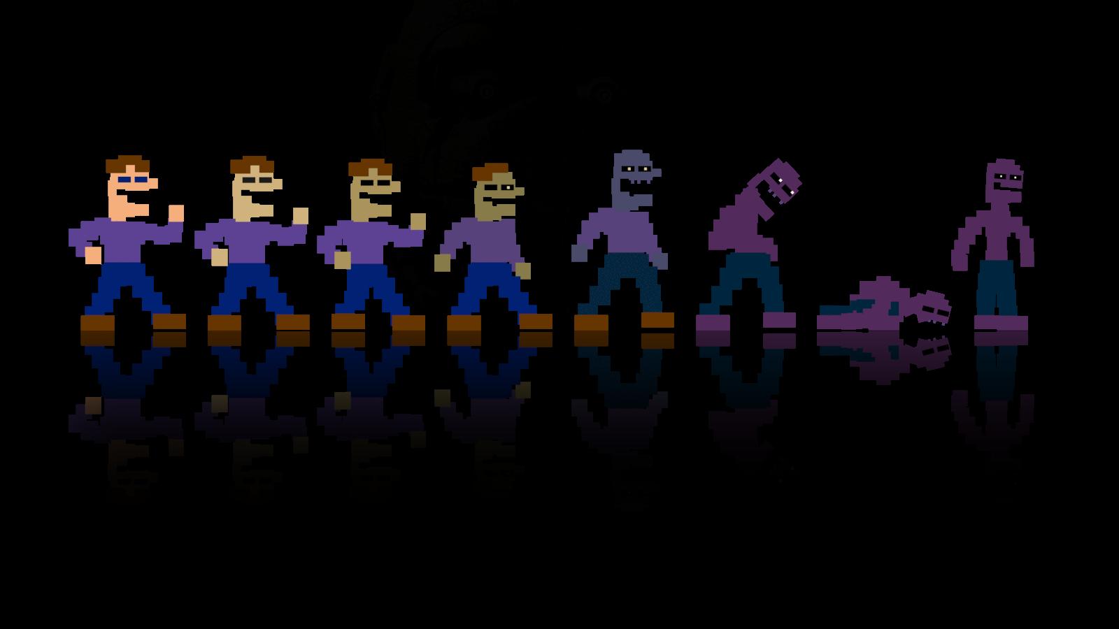 A very simple Purple Guy wallpaper by DaHooplerzMan