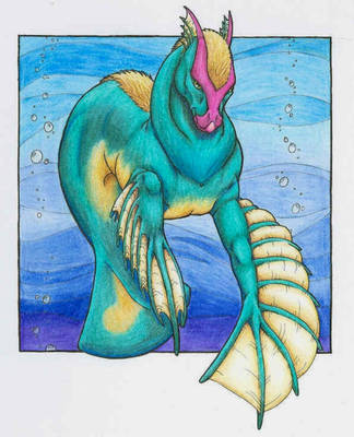Sea Horse - color by Kth-dragon