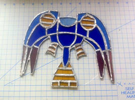 Silvergun Stained Glass WIP by Catnip-Thief