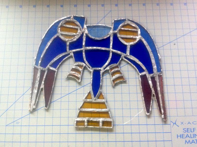 Silvergun Stained Glass WIP by Catnip-Thief