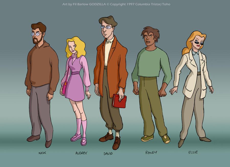 Godzilla: Main Cast Lineup, style #2 by filbarlow