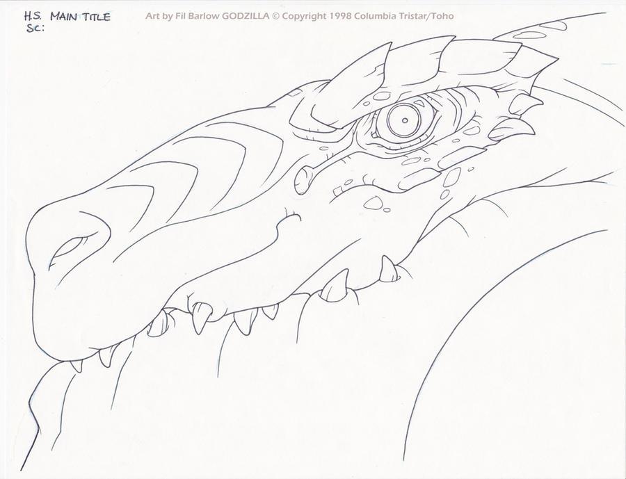 Godzilla: Close up by filbarlow