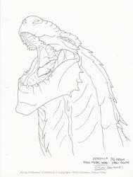 Godzilla: Head Open Mouth by filbarlow