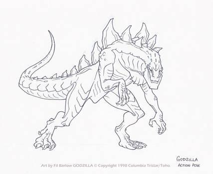 Godzilla: Action Pose by filbarlow