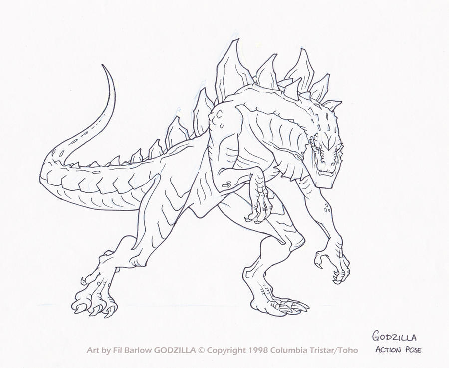 godzilla and coloring pages-#30
