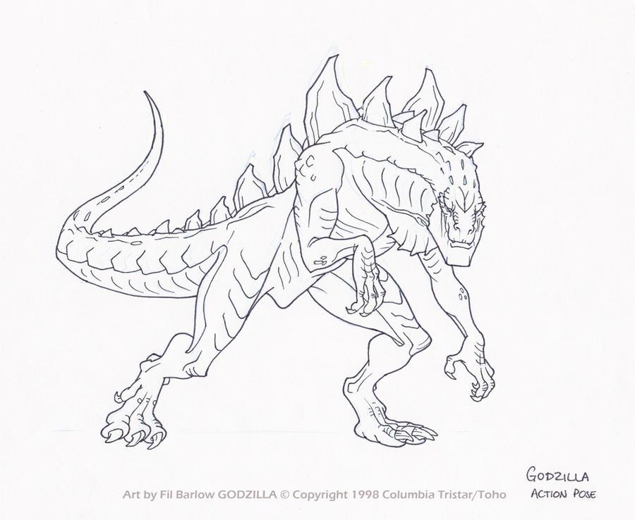 Fil Barlow(Συνέντευξη) Godzilla__action_pose_by_filbarlow-d5bum4e