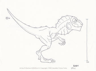 Godzilla #101: Baby by filbarlow