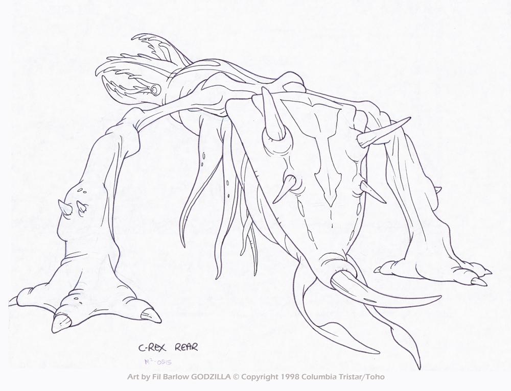 Godzilla #102: C-Rex 3Q Back by filbarlow