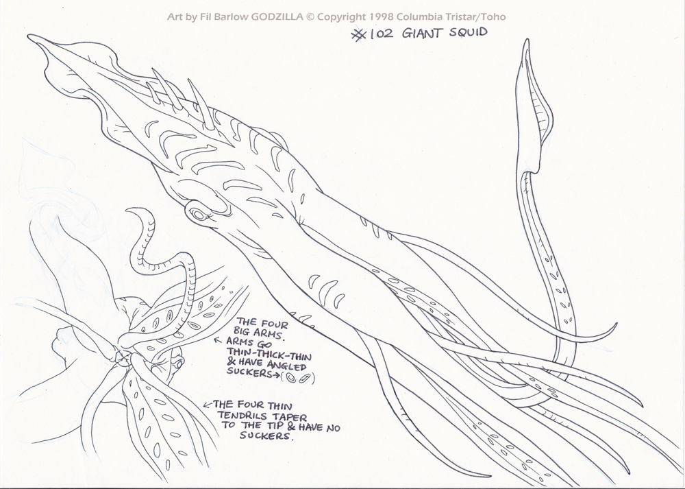 giant squid coloring pages - photo#8