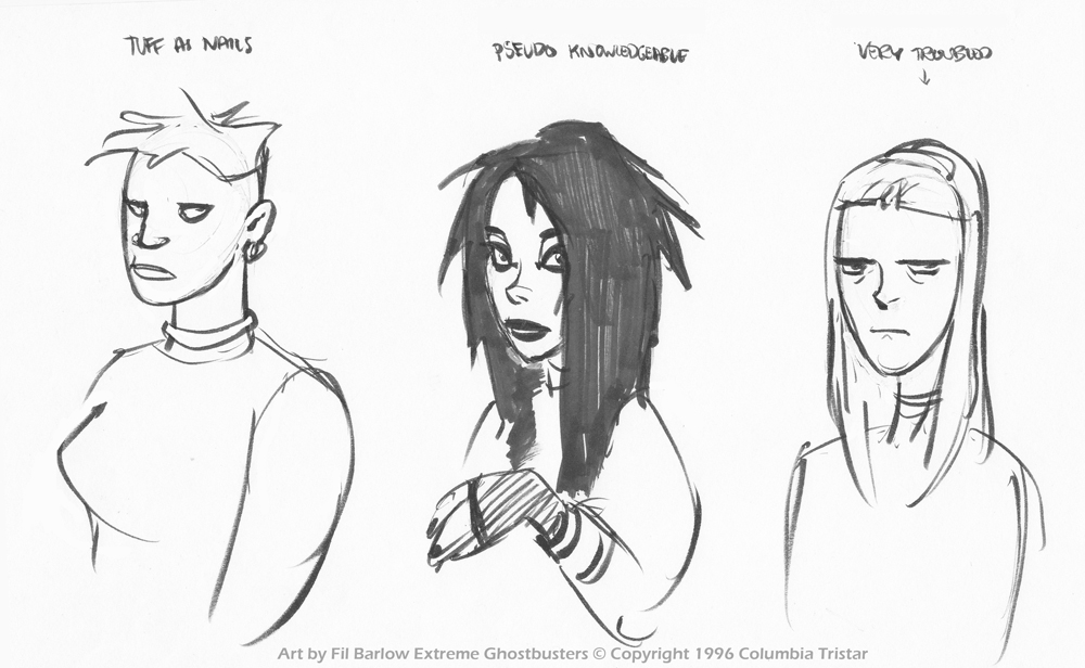 XGB: Early Concept ~ Female Characters by filbarlow