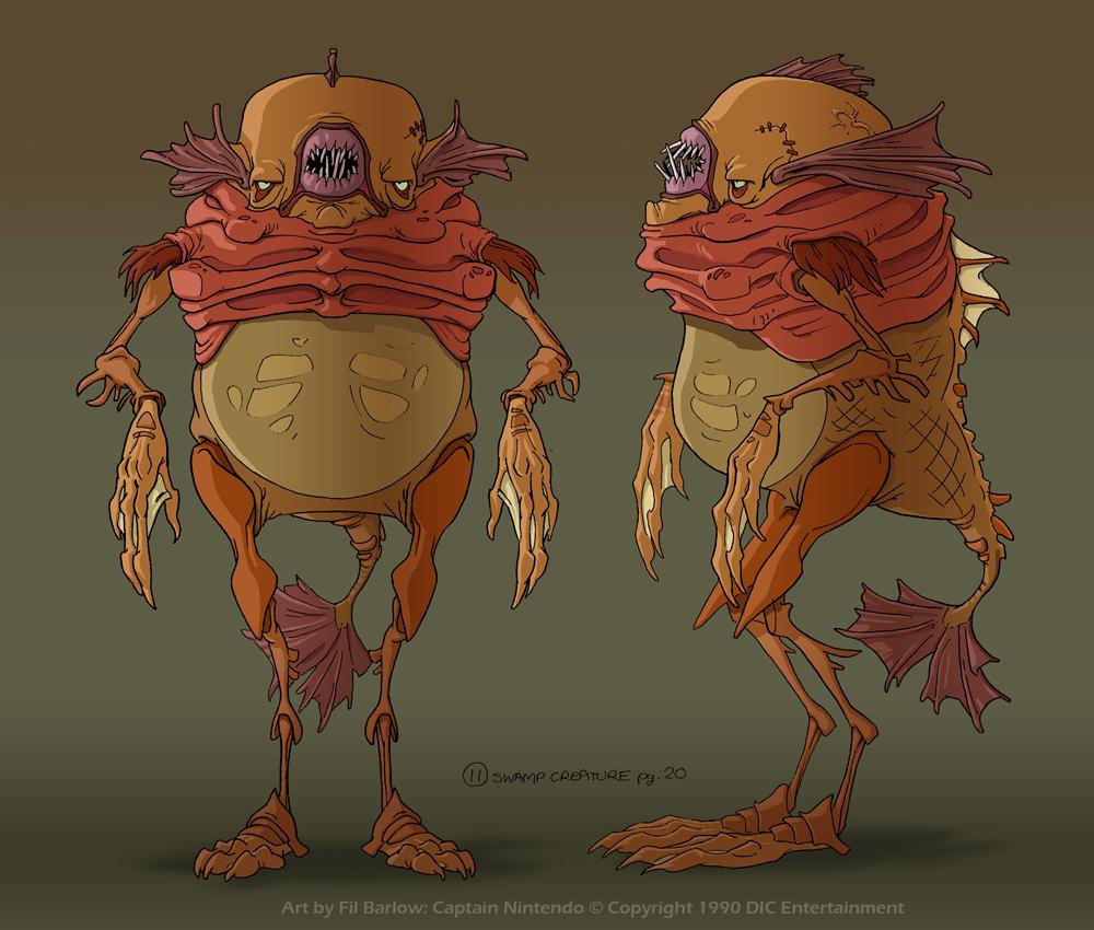 Captain Nintendo: How's Bayou SwampCreature by filbarlow