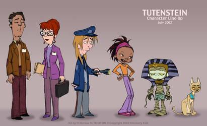 Tutenstein: Main Character Line Up July 2002