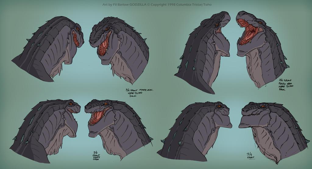 Godzilla: Face Expressions Chart by filbarlow