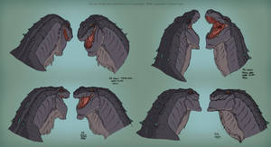 Godzilla: Face Expressions Chart