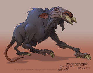 Godzilla Ep106: Giant Rat, Model #1 by filbarlow
