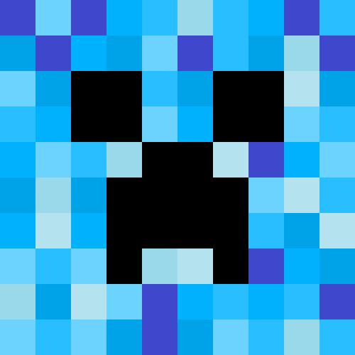 Minecraft Blue Creeper by Xenn000Minecraft Red Creeper