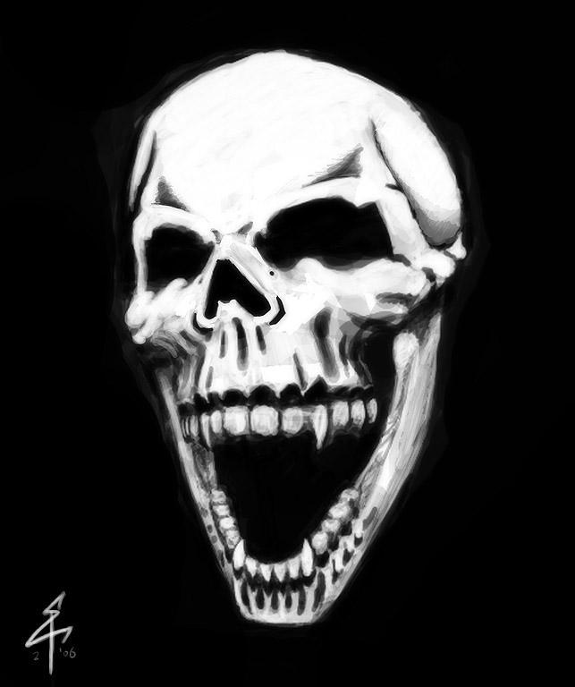 skull laughing by etlgfx on deviantart. Black Bedroom Furniture Sets. Home Design Ideas