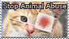 Stop Animal Abuse Stamp by Luna-Akari