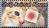 Stop Animal Abuse Stamp by Luna-Akari