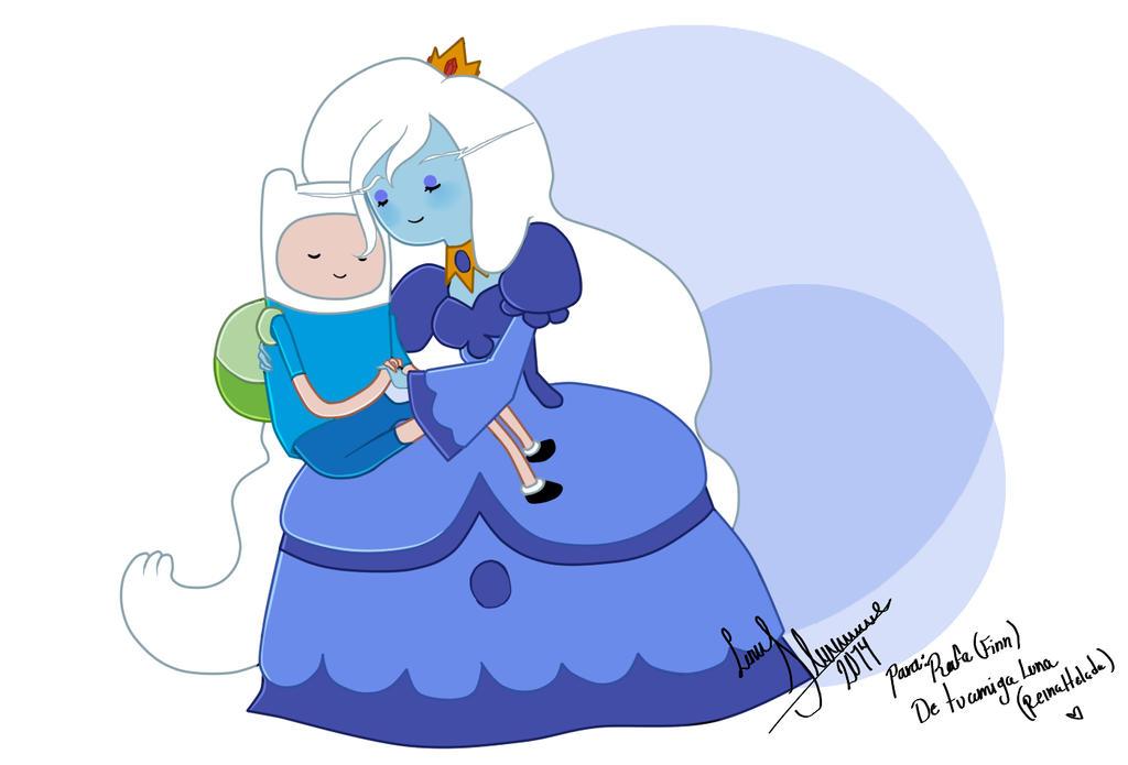Finn and Ice Queen by Luna-Akari