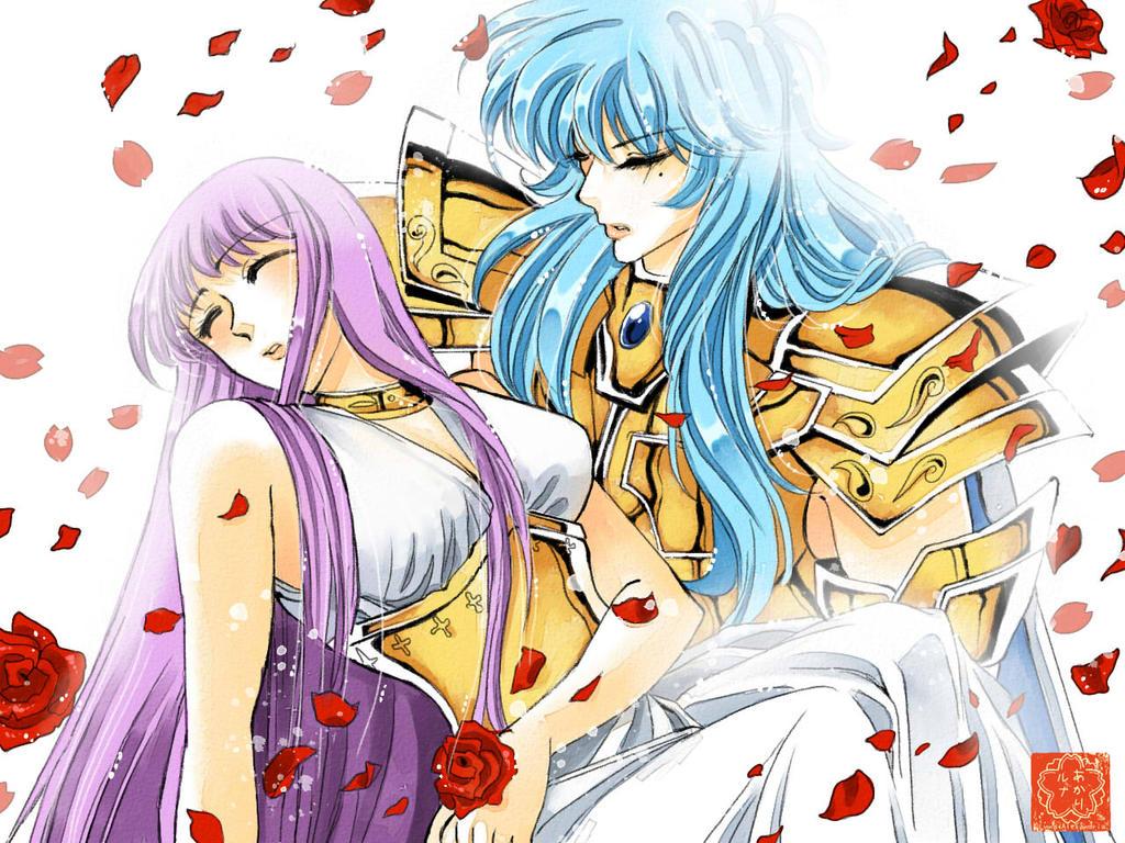 Saintia Sho Saori and Aphrodite by Luna-Akari