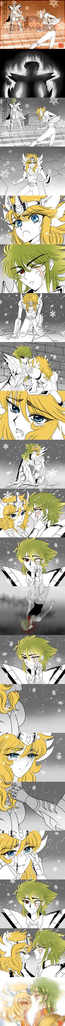 Isaak and Hyoga Doujinshi by Luna-Akari