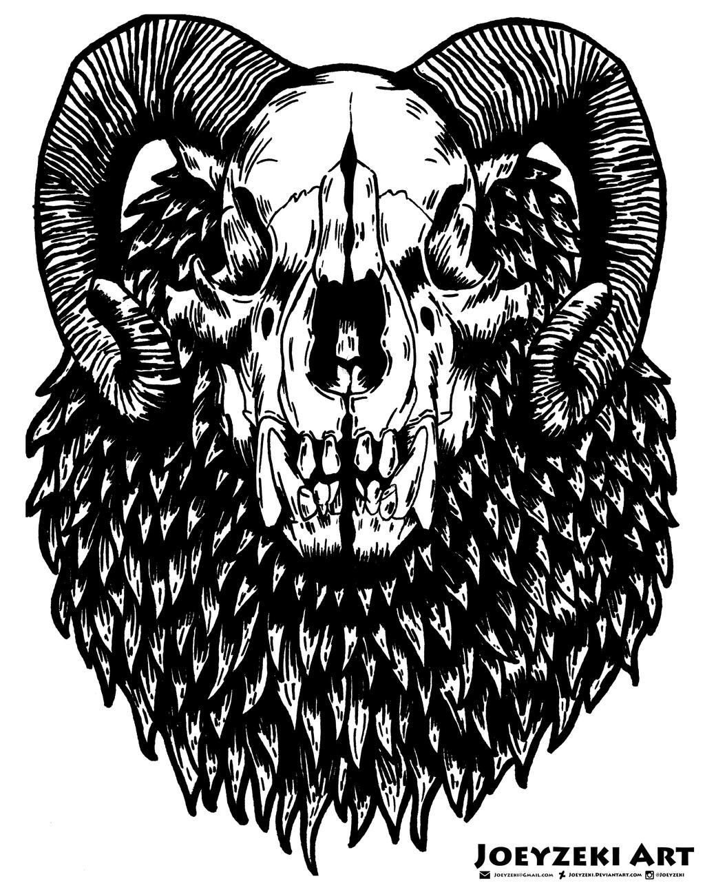 Bear Skull Drawing Bear Skull (Mixed Anim...