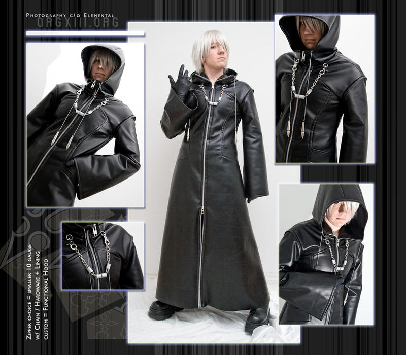OrgXIII coat : small zip+hood by 8-13